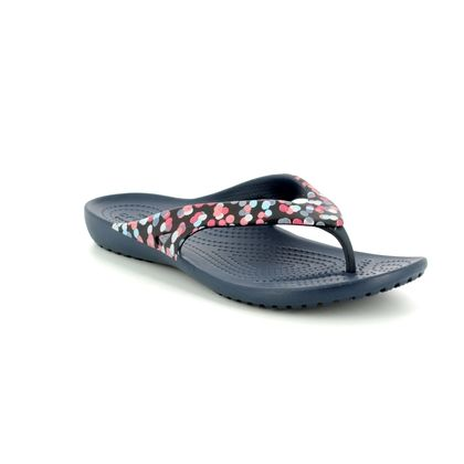 Crocs Toe Post Sandals - Navy - 204231/93D KADEE  2 FLIP
