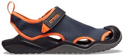 Crocs Sandals - Navy Orange - 205289/4V9 SWIFTWATER MESH