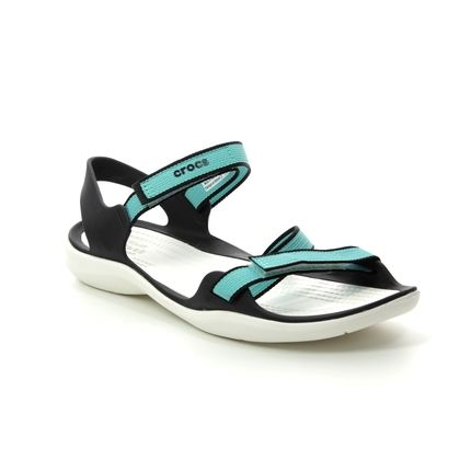 Crocs Comfortable Sandals - Teal blue - 204804/4DY SWIFTWATER WEBB
