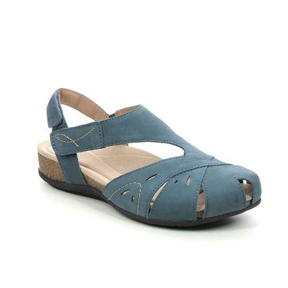 Earth Spirit Closed Toe Sandals - Blue nubuck - 40111/ BIRDIE