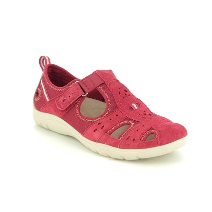 Earth Spirit Closed Toe Sandals - Red suede - 30200/81 CLEVELAND 01