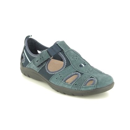 Earth Spirit Closed Toe Sandals - Navy Suede - 30201/72 CLEVELAND 01