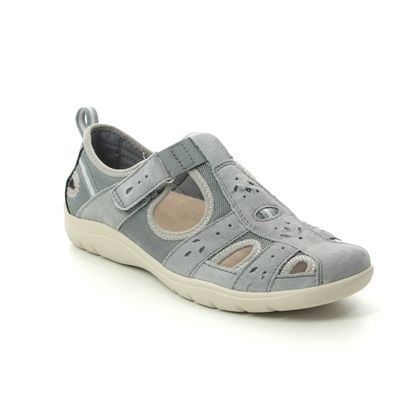 Earth Spirit Closed Toe Sandals - Grey Suede - 30202/00 CLEVELAND 01