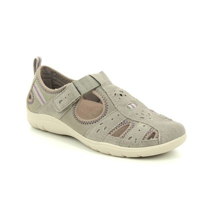 Earth Spirit Closed Toe Sandals - Taupe suede - 30324/50 CLEVELAND 01