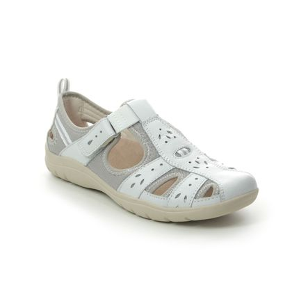 Earth Spirit Closed Toe Sandals - WHITE LEATHER - 30579/66 CLEVELAND 01