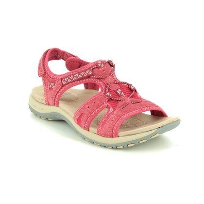 Earth Spirit Walking Sandals - Red suede - 30535/80 FAIRMOUNT