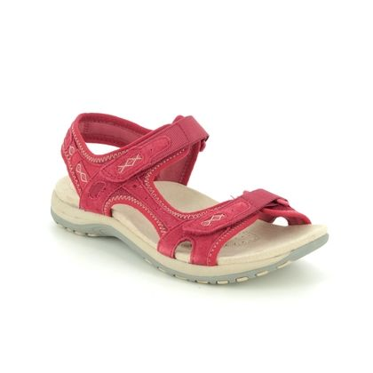 Earth Spirit Walking Sandals - Red suede - 30525/80 FRISCO