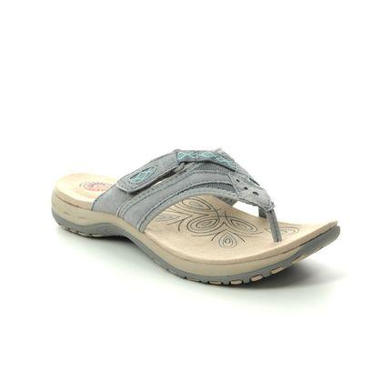 Earth Spirit Toe Post Sandals - Grey Suede - 30513/00 JULIET 01