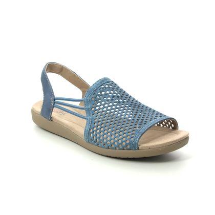 Earth Spirit Comfortable Sandals - Blue Suede - 30602/72 LONGBEACH
