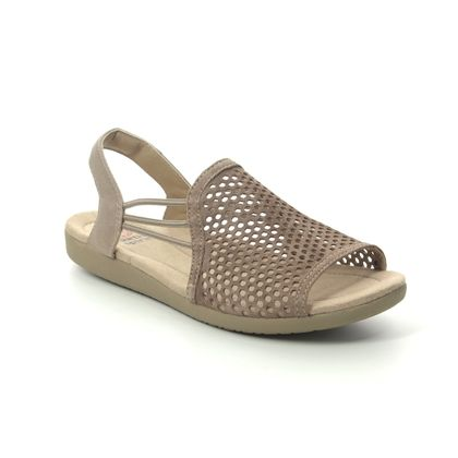 Earth Spirit Comfortable Sandals - Taupe suede - 30603/50 LONGBEACH