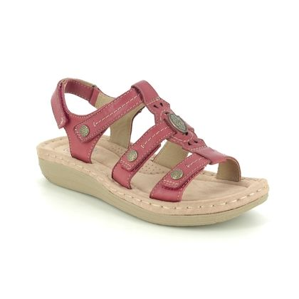 Earth Spirit Comfortable Sandals - Red leather - 30280/80 LYNBROOK