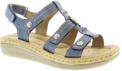 Earth Spirit Comfortable Sandals - BLUE LEATHER - 30283/72 LYNBROOK