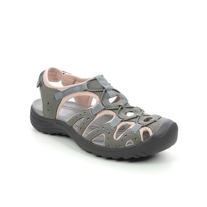 Earth Spirit Closed Toe Sandals - Grey suede - 30618/00 MIDWAY