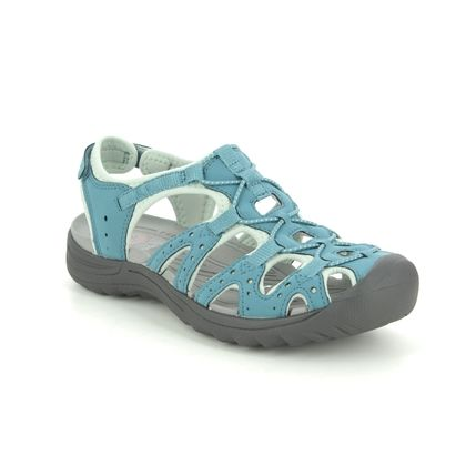 Earth Spirit Closed Toe Sandals - Blue Suede - 30619/70 MIDWAY