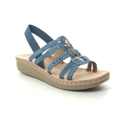 Earth Spirit Comfortable Sandals - Blue Suede - 30555/72 PORTLAND