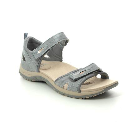 Earth Spirit Walking Sandals - Grey Suede - 30531/00 SAVANNAH