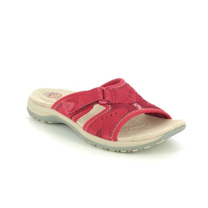 Earth Spirit Slide Sandals - Red leather - 30515/80 WICKFORD