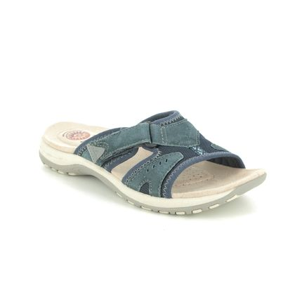Earth Spirit Slide Sandals - Navy leather - 30516/70 WICKFORD