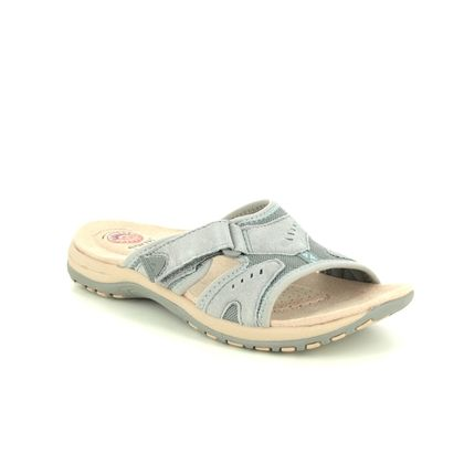 Earth Spirit Slide Sandals - Grey leather - 30517/00 WICKFORD