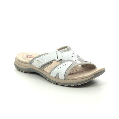 Earth Spirit Slide Sandals - White Leather - 30519/66 WICKFORD