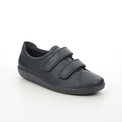 ECCO Comfort Lacing Shoes - Navy leather - 206513/01038 ALSO STRAPY