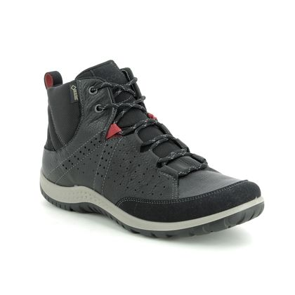 ECCO Walking Boots - Black leather - 838563/01001 ASPINA HI GORE