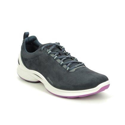 ECCO Walking Shoes - Navy Nubuck - 837533/02058 BIOM FJUEL W