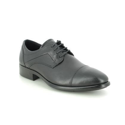 ECCO Smart Shoes - Black leather - 512704/01001 CITYTRAY
