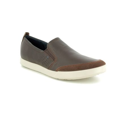 ECCO Casual Shoes - Brown leather - 536214/51869 COLLIN 2 SLIP