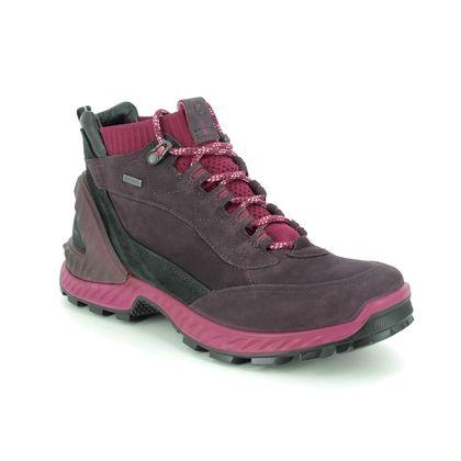 ECCO Walking Boots - Purple Leather - 840713/51836 EXOHIKE HI GORE