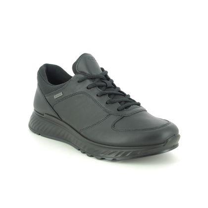 ECCO Trainers - Black leather - 835304/01001 EXOSTRIDE MENS GTX