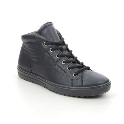 ECCO Ankle Boots - Navy leather - 235343/01303 FARA CHUKKA
