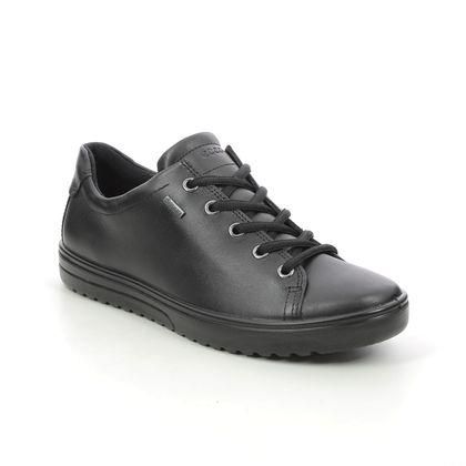 ECCO Comfort Lacing Shoes - Black leather - 235333/01001 FARA GORE TEX