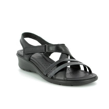 ECCO Comfortable Sandals - Black - 216513/51707 FELICIA SANDAL