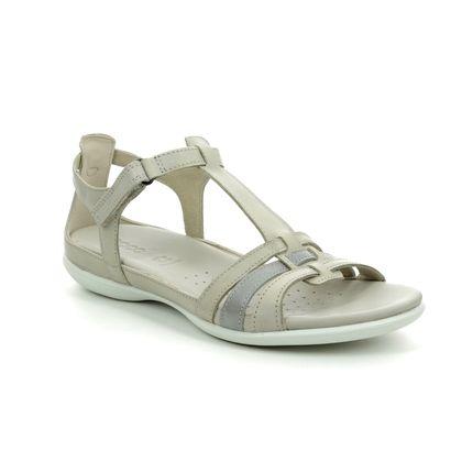 ECCO Comfortable Sandals - Beige - 240873/59759 FLASH TBAR
