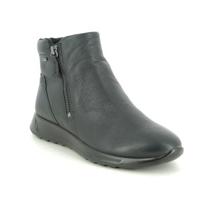 ECCO Ankle Boots - Black leather - 292413/51052 FLEXURE HI GTX