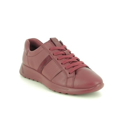 ECCO Comfort Lacing Shoes - Red leather - 292423/52139 FLEXURE PERF