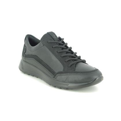 ECCO Comfort Lacing Shoes - Black leather - 292363/51052 FLEXURE RUN GTX