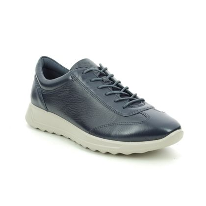 ECCO Trainers - Navy Leather - 292333/01038 FLEXURE RUNLACE