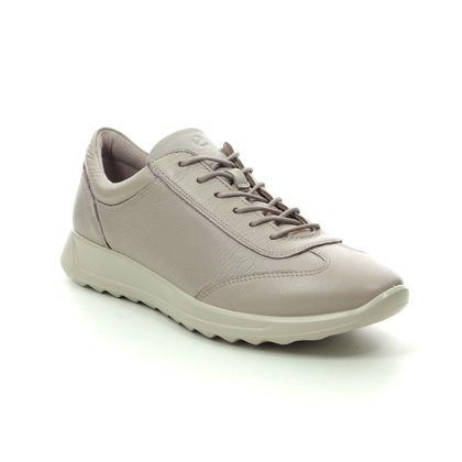 ECCO Trainers - Beige leather - 292333/01386 FLEXURE RUNLACE
