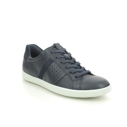 ECCO Comfort Lacing Shoes - Navy leather - 205093/50595 LEISURE