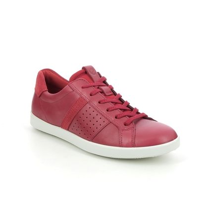 ECCO Comfort Lacing Shoes - Red leather - 205093/51389 LEISURE