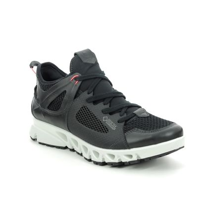 ECCO Walking Shoes - Black leather - 880133/51759 OMNI VENT GORE