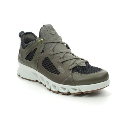 ECCO Trainers - Khaki Leather - 880134/51751 OMNI VENT GTX MENS