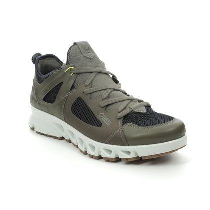 ECCO Trainers - Khaki Leather - 880134/51751 OMNI VENT GTX MENS