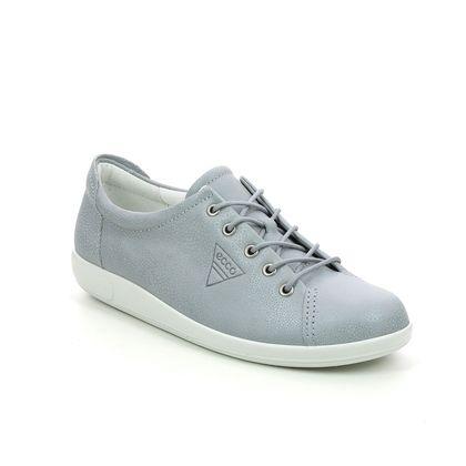 ECCO Comfort Lacing Shoes - Silver Nubuck - 206503/01177 SOFT 2.0