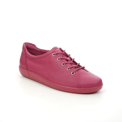ECCO Comfort Lacing Shoes - Red leather - 206503/01595 SOFT 2.0