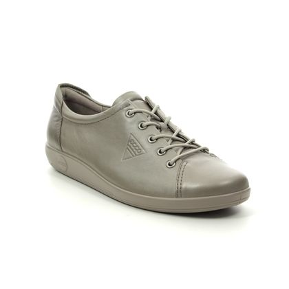 ECCO Comfort Lacing Shoes - Pewter - 206503/51147 SOFT 2.0
