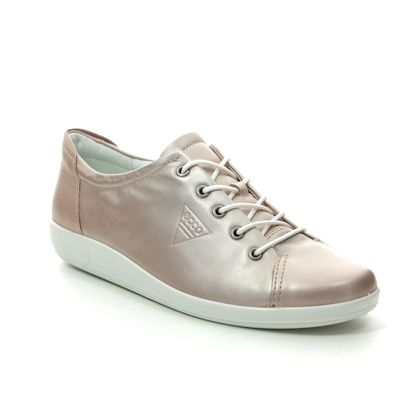 ECCO Comfort Lacing Shoes - Champagne - 206503/51408 SOFT 2.0