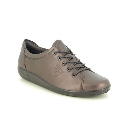 ECCO Comfort Lacing Shoes - Metallic - 206503/52196 SOFT 2.0